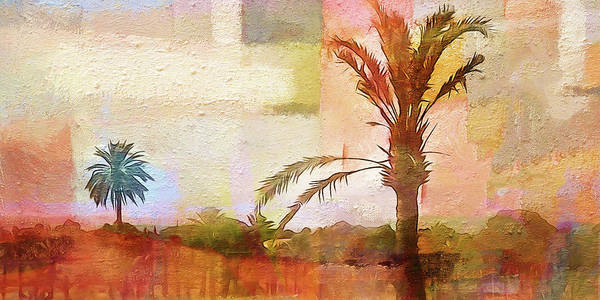 Painting - Palm-trees Panoramic by Lutz Baar