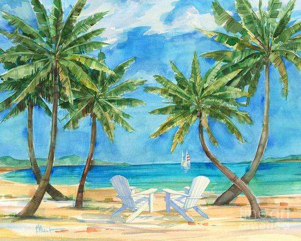 Wall Art - Painting - Palmas Belize - Chairs by Paul Brent