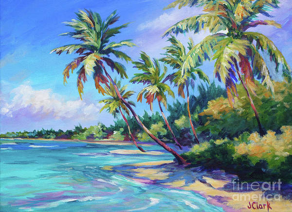 Brac Painting - Palms by John Clark