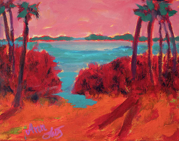 Wall Art - Painting - Palms Of Fire by Ann Lutz