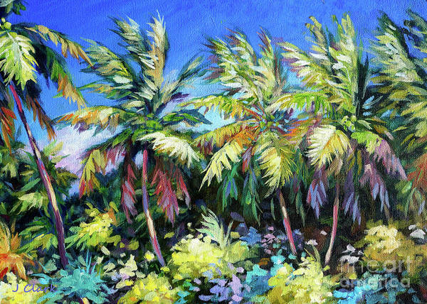 Wall Art - Painting - Palms Together by John Clark