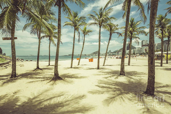 Brazil Wall Art - Photograph - Palms With Shadows On Copacabana Beach by Marchello74