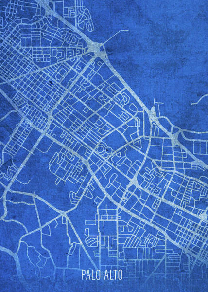 Wall Art - Mixed Media - Palo Alto California City Street Map Blueprints by Design Turnpike