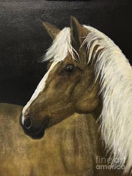 Palomino Horse Mixed Media - Palomino by Lanny Johnson