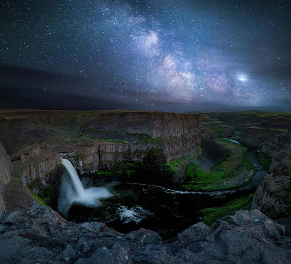 Photograph - Palouse Falls Milky Way / Palouse, Washington  by Nicholas Parker