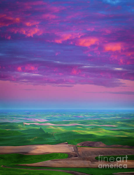 Western Pacific Photograph - Palouse Fiery Dawn by Inge Johnsson