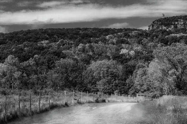 Photograph - Paltz Point Dirt Road Bw by Susan Candelario