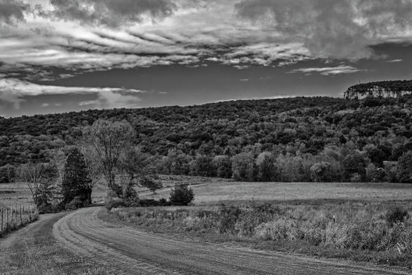 Photograph - Paltz Point Mohonk Dirt Road Bw by Susan Candelario