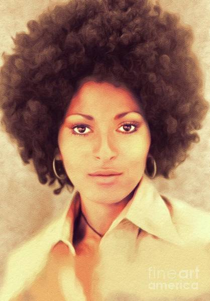 Wall Art - Painting - Pam Grier, Hollywood Legend by John Springfield