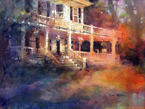 Wall Art - Painting - Pamlico House Sunset by Dan Nelson