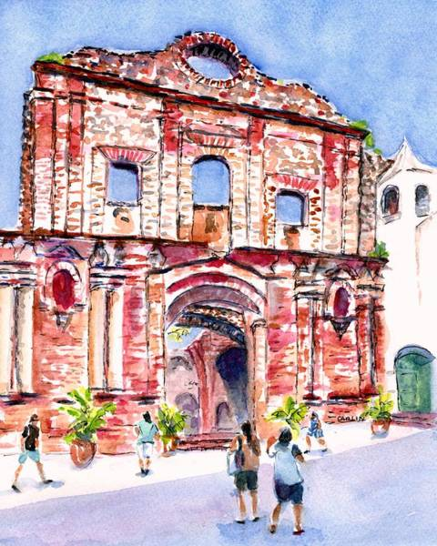 Painting - Panama Church Of Santo Domingo by Carlin Blahnik CarlinArtWatercolor