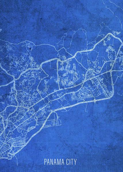 Wall Art - Mixed Media - Panama City Florida City Street Map Blueprints by Design Turnpike
