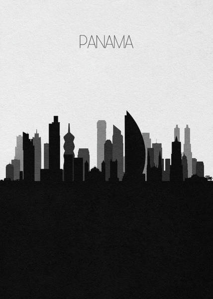 Digital Art - Panama Cityscape Art by Inspirowl Design