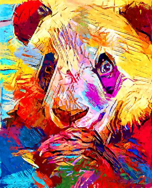 Panda Drawing Painting - Panda by Chris Butler