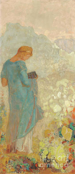 Containers Painting - Pandora By Odilon Redon by Odilon Redon