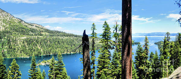 Digital Art - Pano Inspiration Point Emerald Bay by Joe Lach