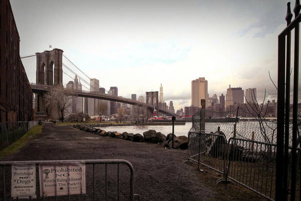 Wall Art - Photograph - Pano Nyc Brooklyn Bridge  by Chuck Kuhn