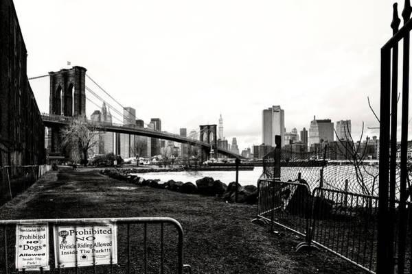 Wall Art - Photograph - Pano View Brooklyn Bridge New York  by Chuck Kuhn