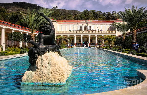 Wall Art - Photograph - Pano View Getty Villa Awesome  by Chuck Kuhn