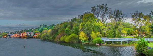 Photograph - Panorama - Boathouse Row In October by Bill Cannon