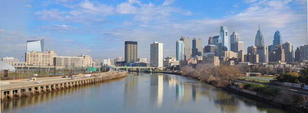 Wall Art - Photograph - Panorama Cityscape From South Street - Philadelphia by Bill Cannon