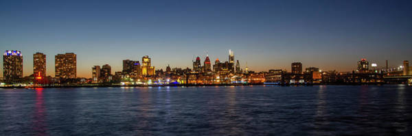 Photograph - Panorama - Cityscape On The Delaware River - Philadelphia by Bill Cannon