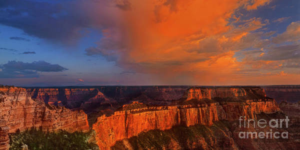 Photograph - Panorama Clearing Storm North Rim Grand Canyon Nationa by Dave Welling