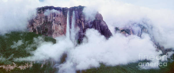 Photograph - Panorama Clouds Surround Angel Falls Canaima Np Venezuela by Dave Welling