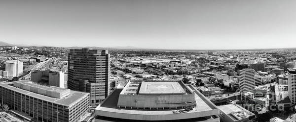 Wall Art - Photograph - Panorama Los Angeles Black White  by Chuck Kuhn