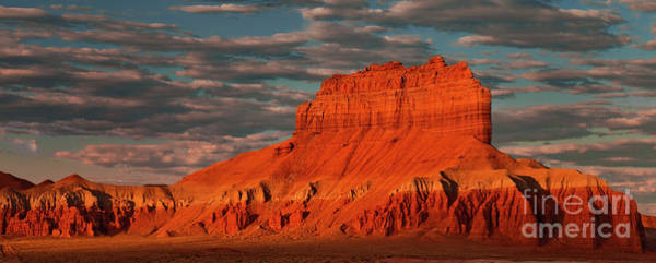 Photograph - Panorama Morning Light On Wild Horse Butte San Rafael Swell Utah by Dave Welling