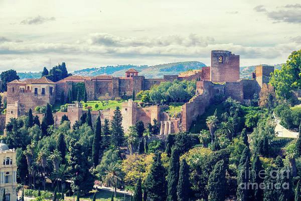 Photograph - panorama of  Alcazaba by Ariadna De Raadt