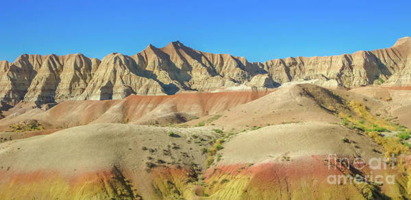 Photograph - Panorama Of Badlands Np by Benny Marty