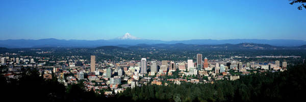 Wall Art - Photograph - Panorama Of City With Mount Hood by Panoramic Images