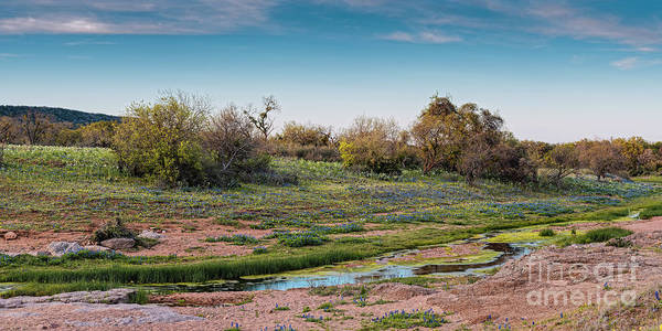 Wall Art - Photograph - Panorama Of Creek Running Through Ship Hollow At Willow City Loop  Fredericksburg Texas Hill Country by Silvio Ligutti