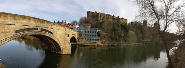 Photograph - Panorama Of Durham Framwellgate Bridge, Castle And Cathedral, En by Iordanis Pallikaras