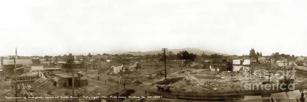Photograph - Panorama Of Earthquake Ruins At Santa Rosa, Sonoma County, 1906 by California Views Archives Mr Pat Hathaway Archives