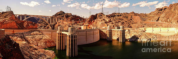 Wall Art - Photograph - Panorama Of Hoover Dam Black Canyon And Colorado River - Nevada Arizona Mojave Desert by Silvio Ligutti