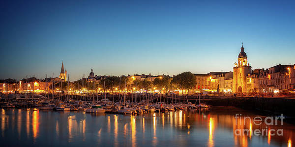 Wall Art - Photograph - Panorama Of La Rochelle At Night  by Delphimages Photo Creations