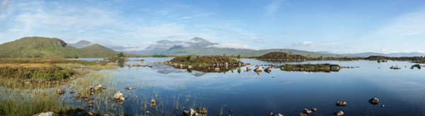 Moor Photograph - Panorama Of Lochan Na Hachlaise On An by Abzee