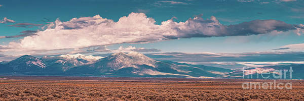 Photograph - Panorama Of Sangre De Cristo Mountains Mount Wheeler Taos Mountain - New Mexico Land Of Enchantment by Silvio Ligutti
