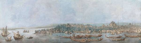 Wall Art - Painting - Panorama Of Sarayburnu  by Louis Francois Cassas