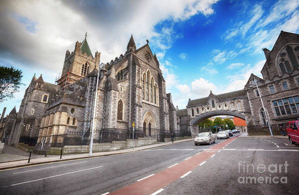 Photograph - panorama of The Cathedral of Dublin by Ariadna De Raadt