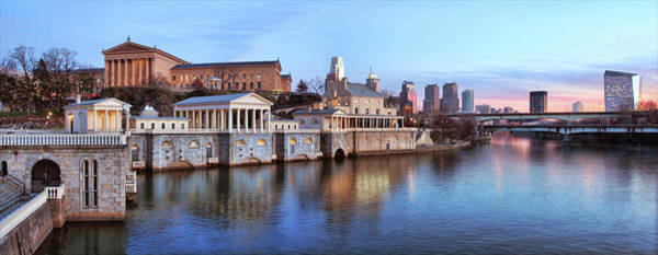 Awe Photograph - Panorama Of The Philadelphia Waterworks by Driendl Group
