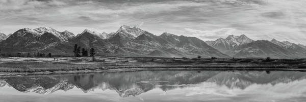 Wall Art - Photograph - Panorama Of The Rocky Mountains Of Montana In Monochrome by David Farlow