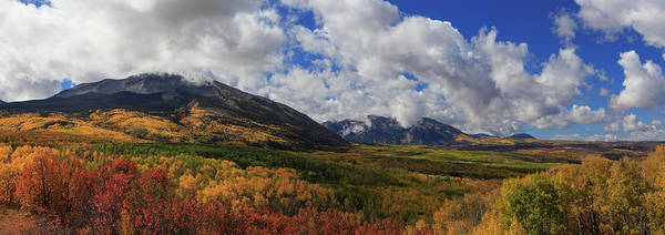 Wall Art - Photograph - Panorama Of The West Elk Wilderness Dressed In Autumn's Colors by Bridget Calip