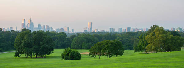 Photograph - Panorama - Philadelphia From Belmont Grove by Bill Cannon