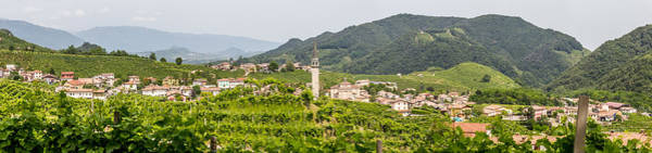 Wall Art - Photograph - Panorama Santo Stefano Village Surrounded By Vineyards by Pavel Rezac
