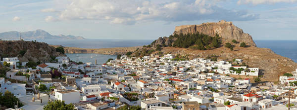 Wall Art - Photograph - Panorama View Lindos, Rhodes Island by Peter Adams