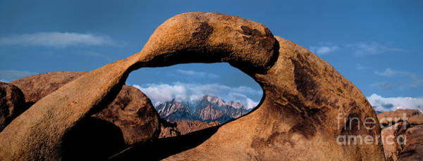 Photograph -  Panoramic Arch Morning Eastern Sierras Alabama Hills California by Dave Welling
