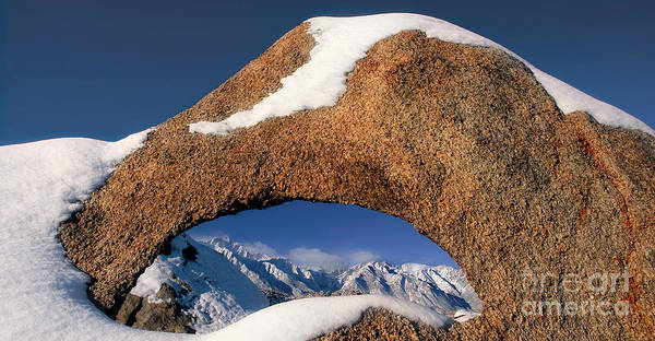 Photograph - Panoramic Arch Winter Eastern Sierras Alabama Hills Caifornia by Dave Welling